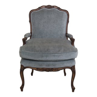 French Louis XV Style Open Armchair With Down Seat For Sale