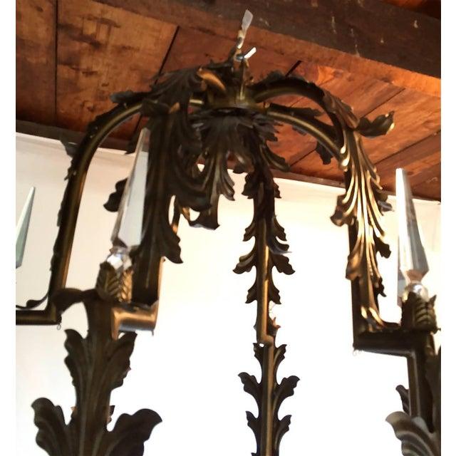 Bronzed Metal Nineteen-Light Florentine Chandelier For Sale In Kansas City - Image 6 of 12