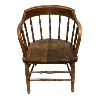 19th Century Antique Capitans Chair For Sale