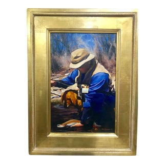 """Original """"On the Roaring Fork"""" Oil on Canvas Framed Painting by DIX Baines"""