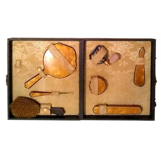 Antique Vanity Set in Original Case- For Sale
