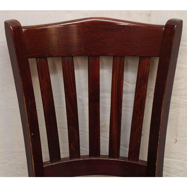 Wood Black Vinyl Dining Chair By Alston Quality Industries Chairish - Vinylboden für industrie