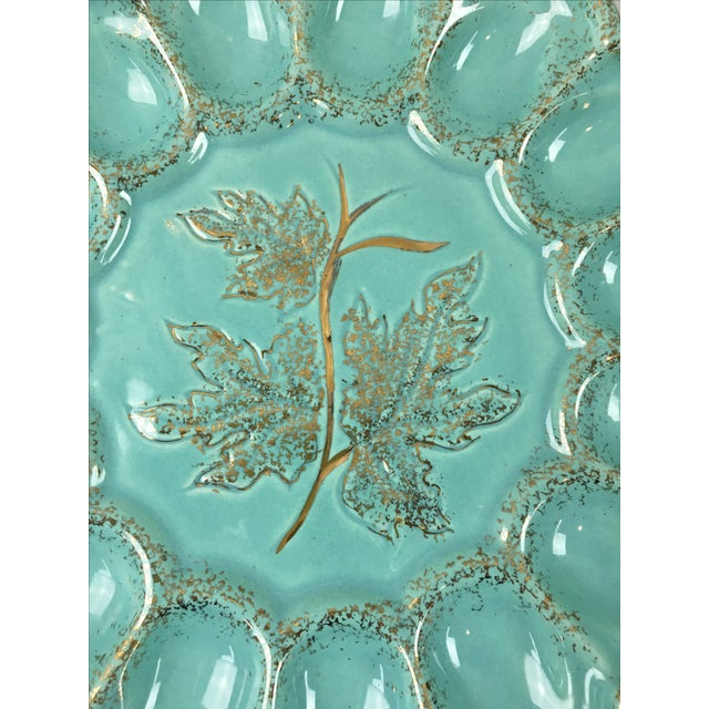 Mid-Century Ceramic Deviled Egg Plate - Image 4 of 6