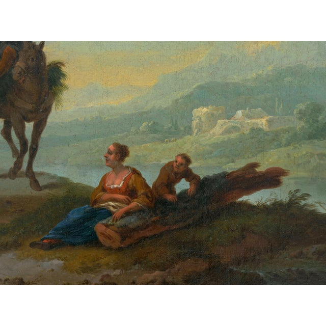 18th Century Antique Landscape Paintings Attr. To Pieter Van Bloemen - a Pair For Sale - Image 6 of 13