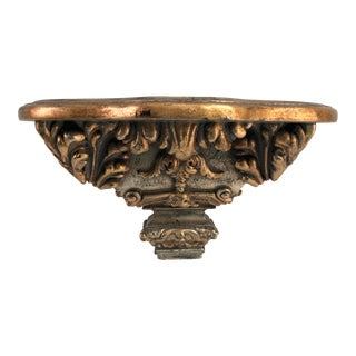 Vintage Rococo Style Gold Wall Shelf For Sale