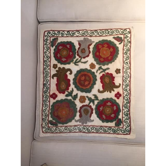 Vintage Turkish Embroidered Throw Pillow Case - Image 2 of 3