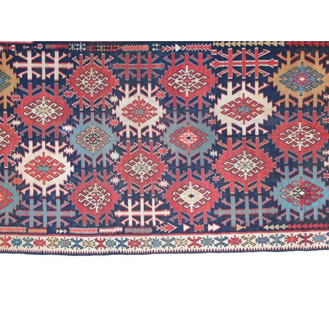 """Leon Banilivi Antique Caucasian Kilim - 6' X 10'8"""" - Image 3 of 5"""