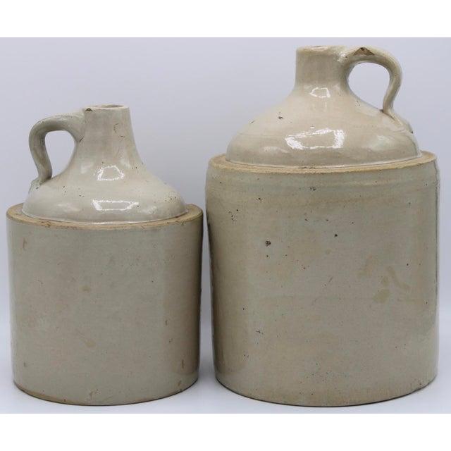 Antique Stoneware Farmhouse Crock Jugs - a Pair For Sale - Image 10 of 10
