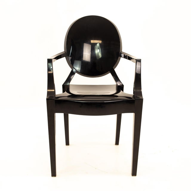 Kartell Mid Century Black Acrylic Ghost Dining Chairs - Set of 4 For Sale In Chicago - Image 6 of 11