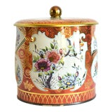 Image of Vintage English Chinoiserie Tea Tin For Sale