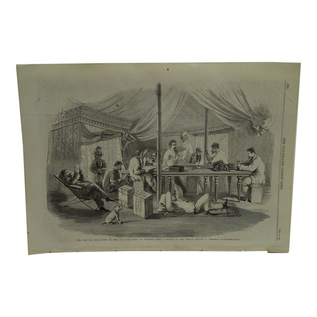 Mid 19th Century Antique The Illustrated London News Print The War