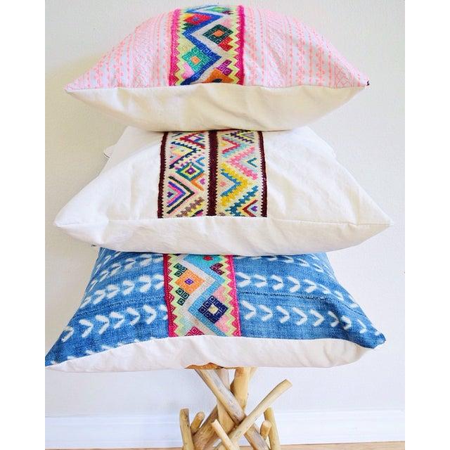Pink Stitch & Peruvian Ribbon Pillow - Image 4 of 5