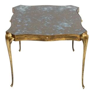 Arturo Pani Style Elegant Eglomise Side Table For Sale