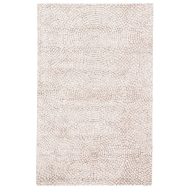 Pollack by Jaipur Living Impresario Handmade Medallion Ivory / Tan Area Rug - 9′ × 12′ For Sale