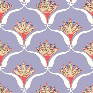Lavendar Wallflower Wallpaper Remnant by Mitchell Black