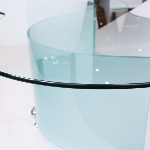 Modern S-Curve Glass Coffee Table - Image 4 of 6