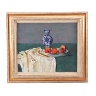 Early 20th Century Antique Original Gordon Peers Still Life Painting For Sale