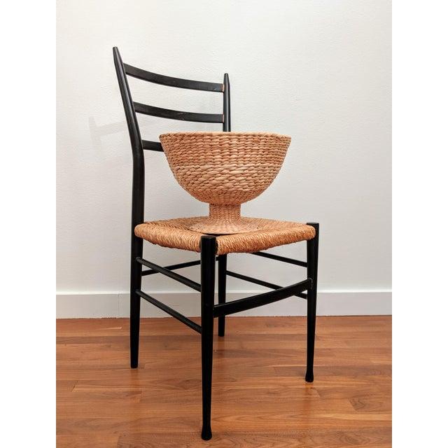 Gio Ponti Gio Ponti-Style Superleggera-Style Woven Rope Chair For Sale - Image 4 of 10