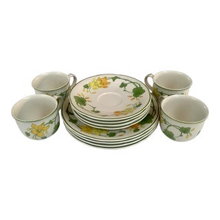 Villeroy and Boch Desert Plates, Cups and Saucers - Set of 12 For Sale
