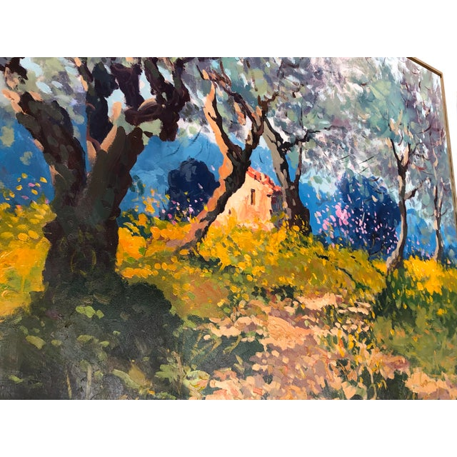 Contemporary Tuscan Hand Scrape Painting For Sale - Image 4 of 8
