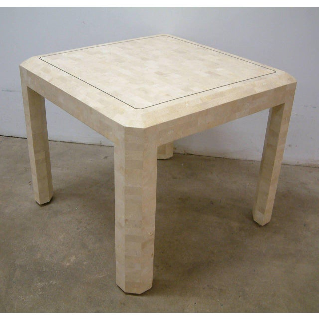 Maitland Smith Brass and Tessellated Stone Table For Sale - Image 5 of 9