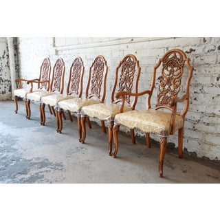 Romweber Ornate French Carved Dining Chairs, Set of Six Preview