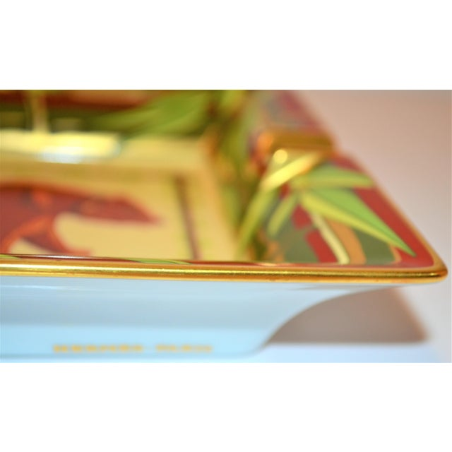 Vintage Hermès Bear and Bamboo Cigar Tray For Sale In Houston - Image 6 of 13