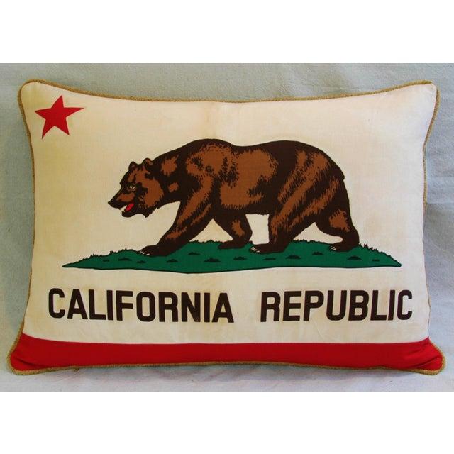 Jumbo California Republic Bear Flag Pillow - Image 9 of 11