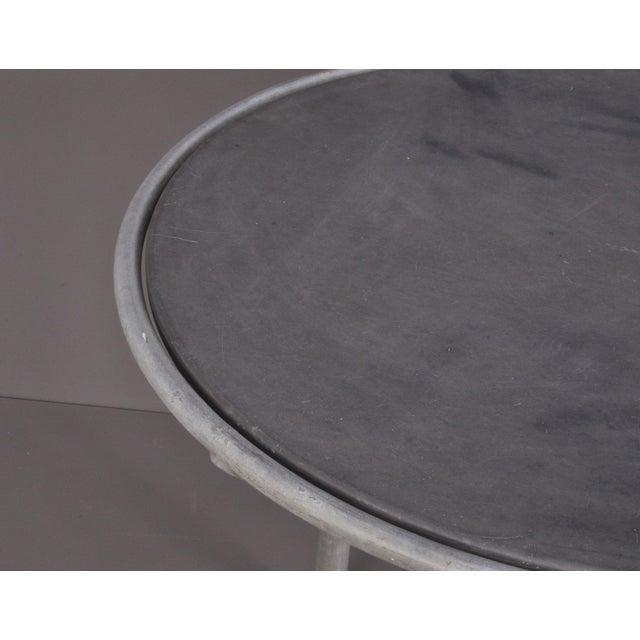 Metal Blue Stone , Indoor/ Outdoor Table Switzerland Circa 1950 For Sale - Image 7 of 9