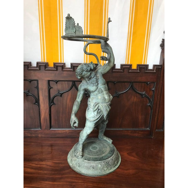 19th century Grand Tour patinated bronze figure statue of Silenus, The God of Wine - identical to that found in...