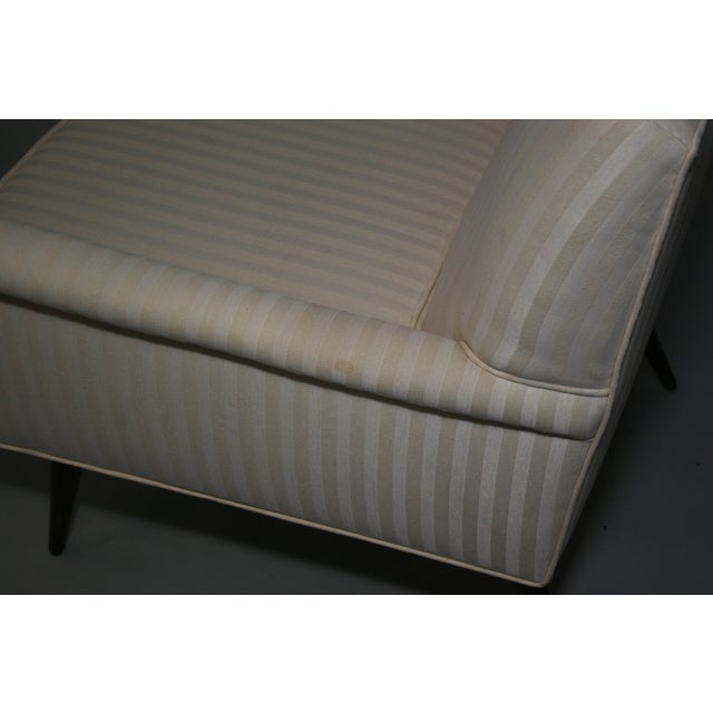 Mid-Century Modern Ivory Stripe Lounge Chair - Image 4 of 8