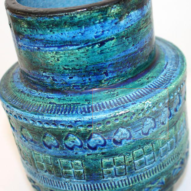 Aldo Londi for Bitossi Rimini Blue Pottery Vase - Image 5 of 5