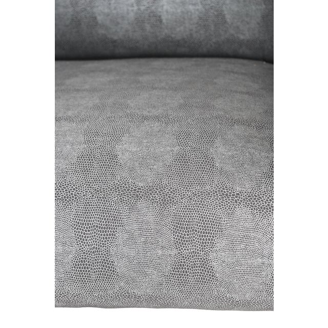 Pair of 1980s Armchairs in Metallic Faux Shagreen For Sale - Image 4 of 10