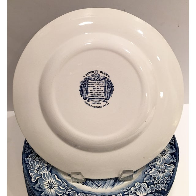"""1970's English Staffordshire """"Independence Hall"""" Dinner Plates - Set of 15 - Image 5 of 6"""