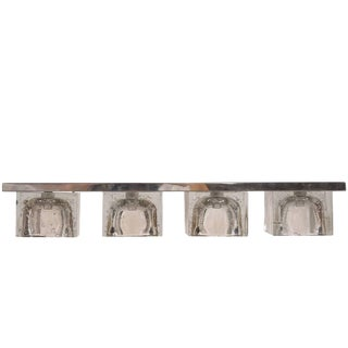 Crystal and Steel Sconce by Sciolari for Lightolier For Sale