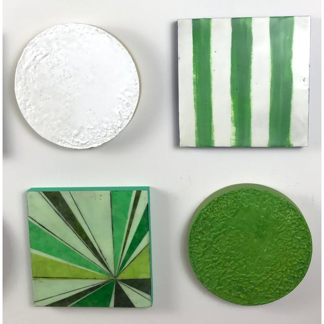 """2010s Encaustic Collage Installation by Gina Cochran """"Grasshopper"""" - 16 Pieces For Sale - Image 5 of 9"""