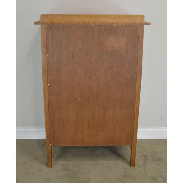 Stickley Mission Collection Oak Nine Drawer Harvey Ellis Tall Chest (Xyz) For Sale In Philadelphia - Image 6 of 12