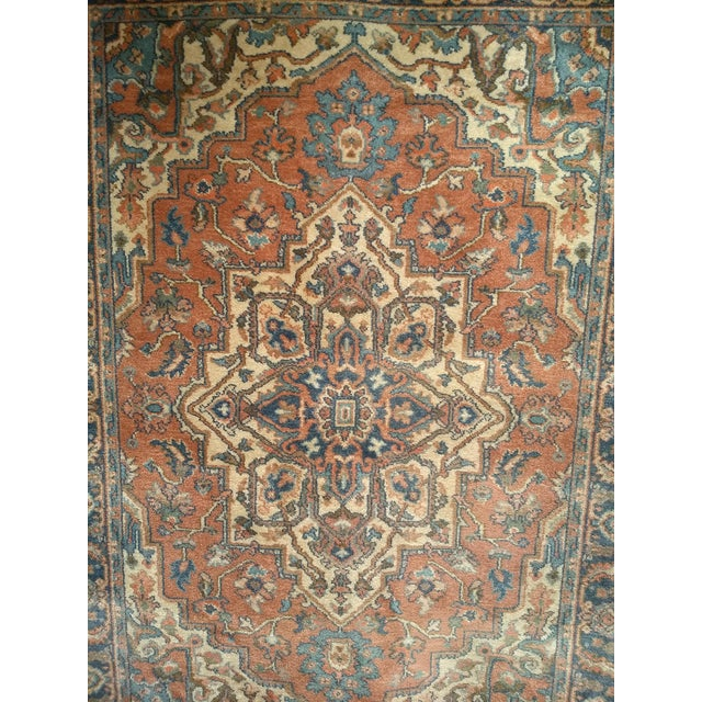 A Vintage Heriz Serapi Karastan (Design # 744) in the beautiful traditional geometric design of the Antique Heriz Serapi...