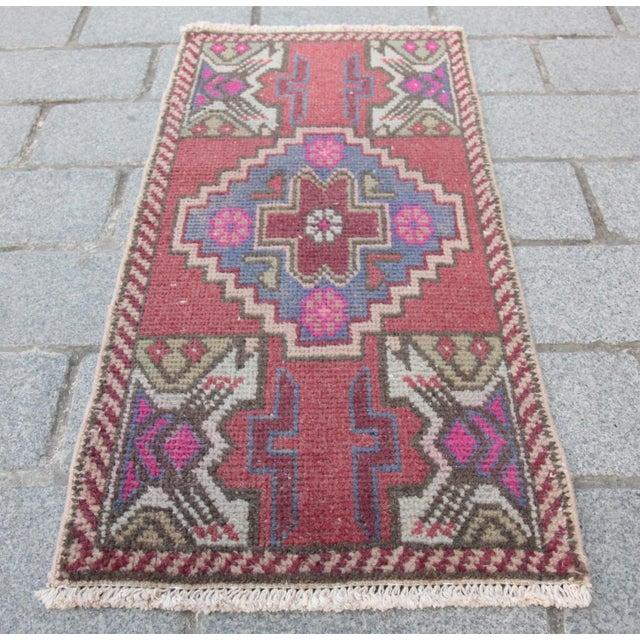 Antique Turkish Carpet - 1′6″ × 3′1″ - Image 2 of 11