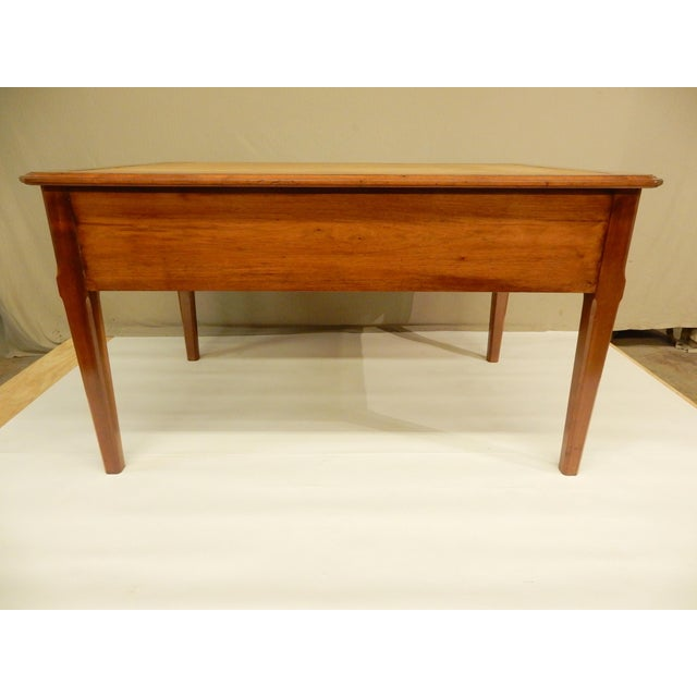 19th Century French Walnut and Leather Top Desk For Sale In New Orleans - Image 6 of 9