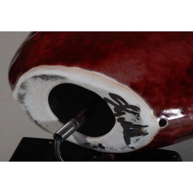Vintage John Shedd Art Pottery Drip Glaze Lamp For Sale - Image 7 of 8