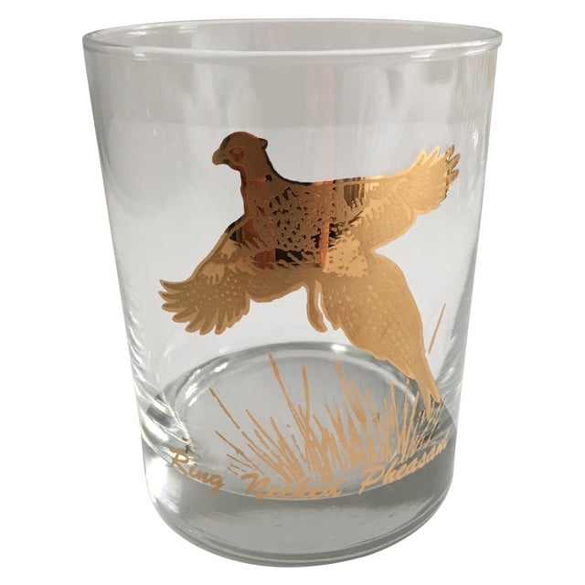 Ring Necked Pheasant Vintage Cocktail Glasses - 8 - Image 1 of 7
