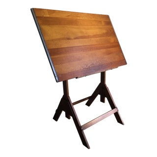 Vintage Adjustable Industrial Drafting Table For Sale