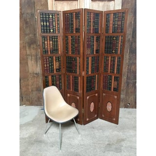20th Century Leather Book Room Divider Preview