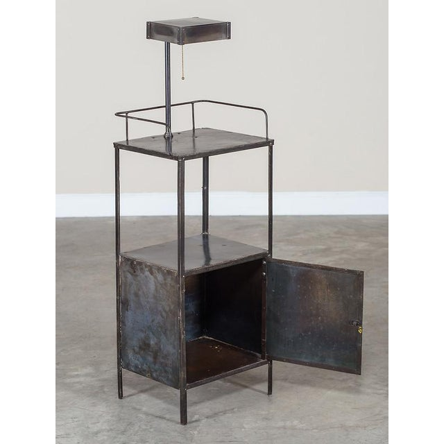 Vintage Industrial French Metal Cabinet with Light circa 1940 - Image 5 of 11