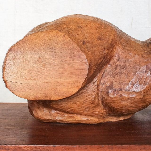 Mid-Century Modern Carved Nude Torso Sculpture - Image 3 of 10
