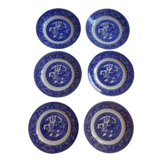 Homer Laughlin Blue Willow Side Plates, Set of 6 For Sale
