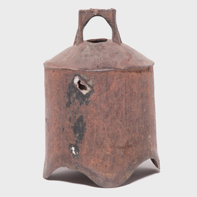 Asian 19th Century Provincial Chinese Iron Bell For Sale - Image 3 of 6