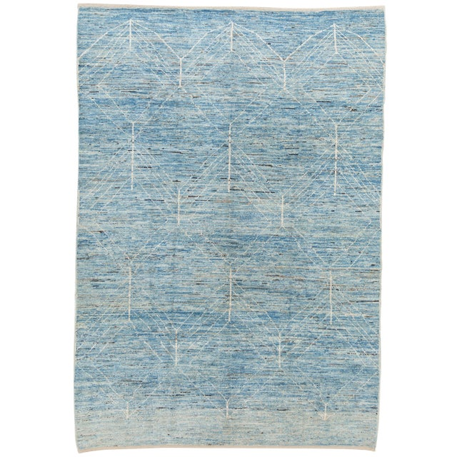 """21st Century Modern Moroccan-Style Rug, 7'0"""" X 10'0"""" For Sale"""
