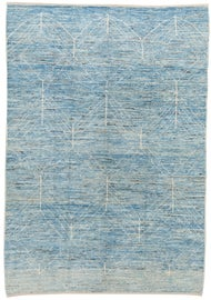 Image of Baby Blue Contemporary Handmade Rugs
